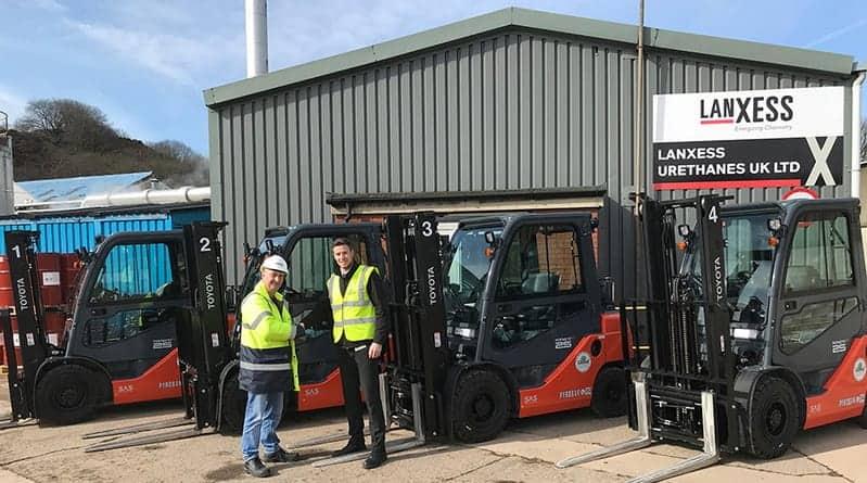 Global Materials Handling deliver new Pyroban Tonero's in Baxenden.