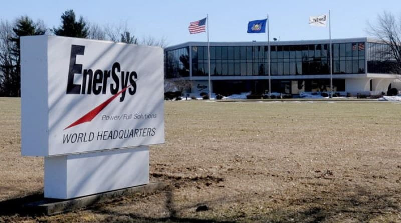 New wireless monitoring device from EnerSys to help lift-truck operators reduce battery fleet TCO