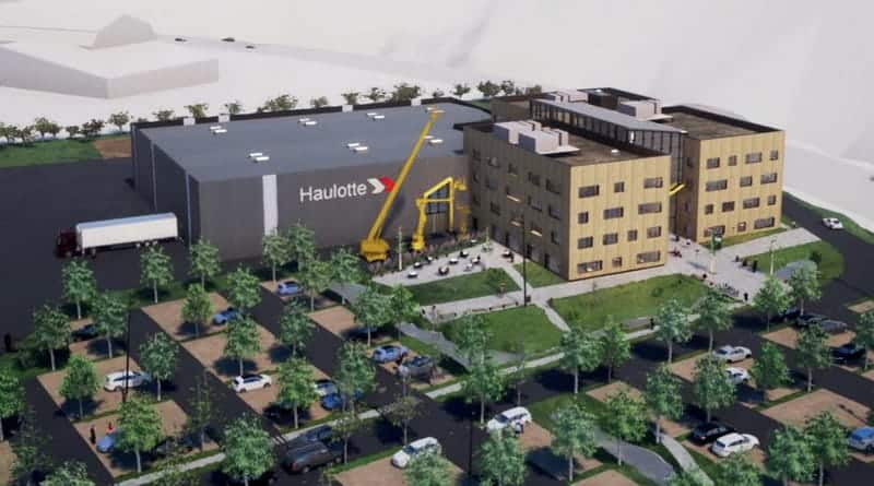 Haulotte building futuristic headquarters
