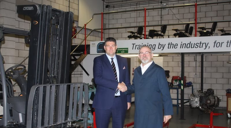 Crown donate a forklift to training centre