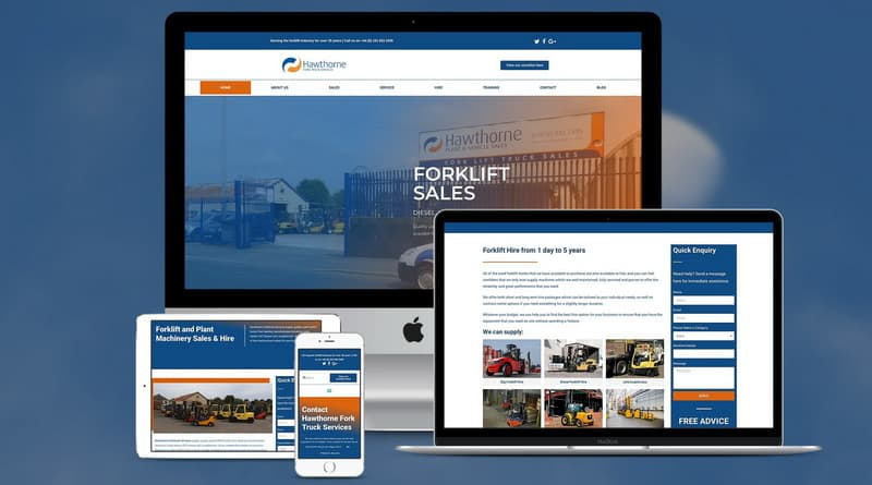 New website for Hawthorne Fork Truck Services