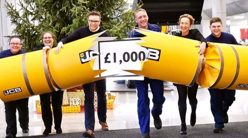 JCB employees get £1,000 Christmas bonus