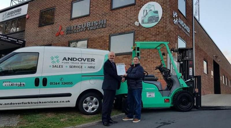A New Award for Andover Fork Truck Services