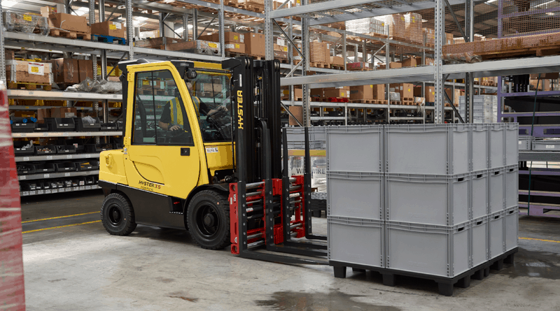 Factory fit forklift attachments from Hyster