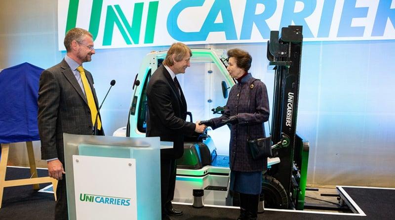 HRH The Princess Royal Honours Transaid Key Corporate Partner UniCarriers During Visit.