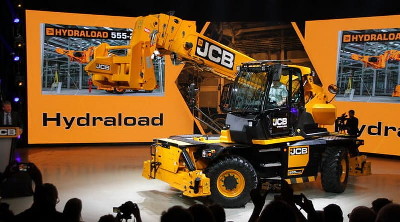 The Hydraload 555 – JCB's first rotating tele handler