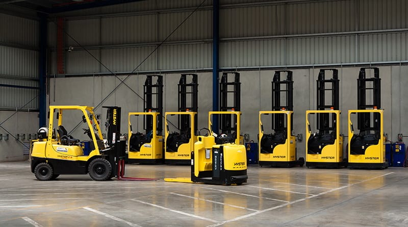 Forklift rental reduces emissions