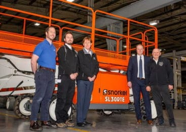 Snorkel starts production of lithium-ion powered scissor lifts