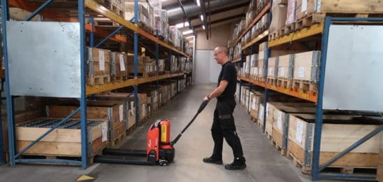 New Lithium powered pallet truck from Logitrans