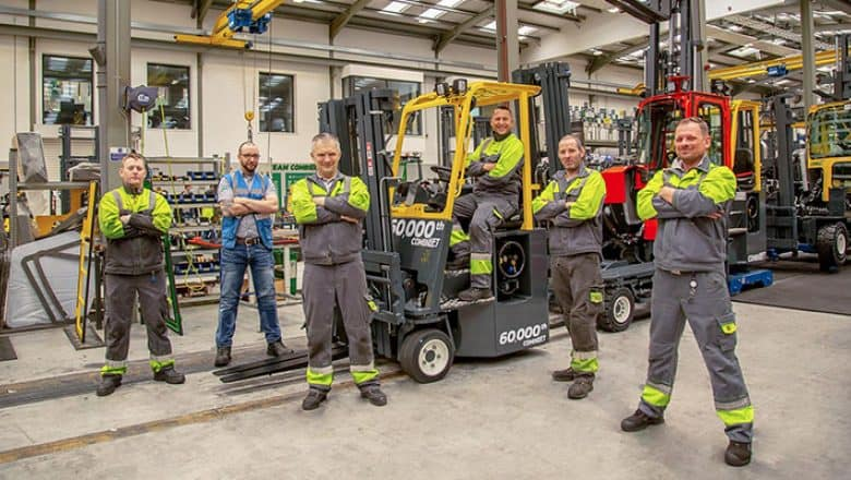 Combilift's 60,000th truck delivered.